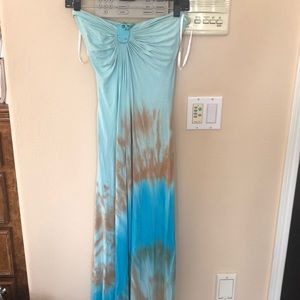 Sky maxi dress with turquoise size medium